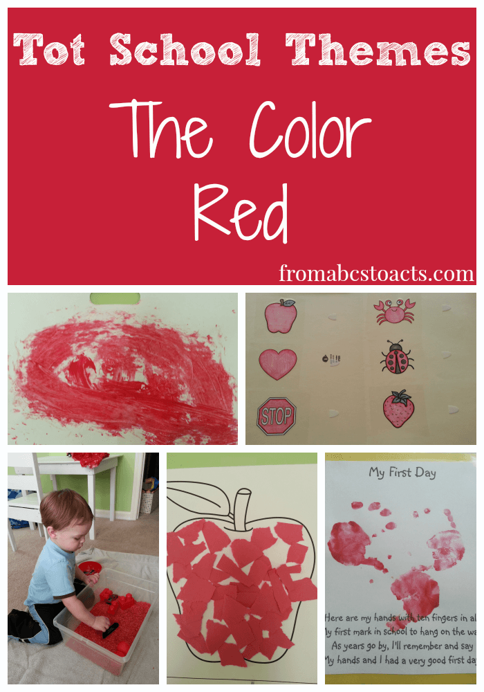 Tot School Themes: The Color Red