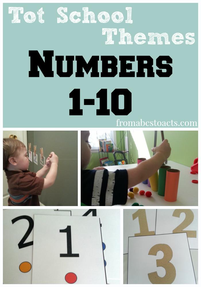 Tot School numbers theme using numbers 1-10
