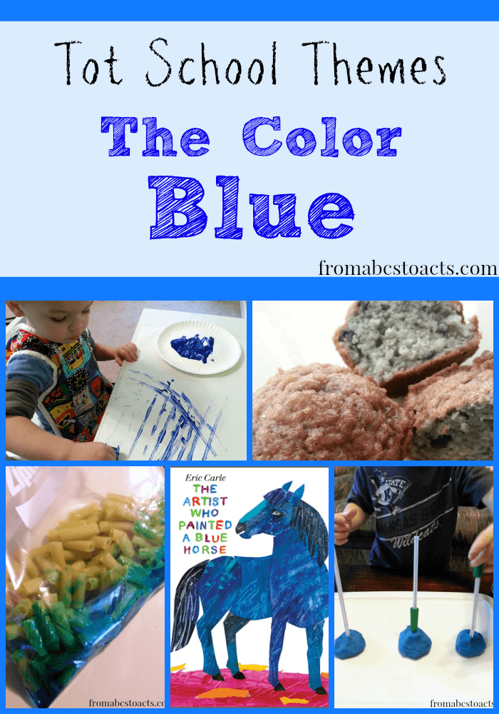 The Color Blue - Tot School Themes