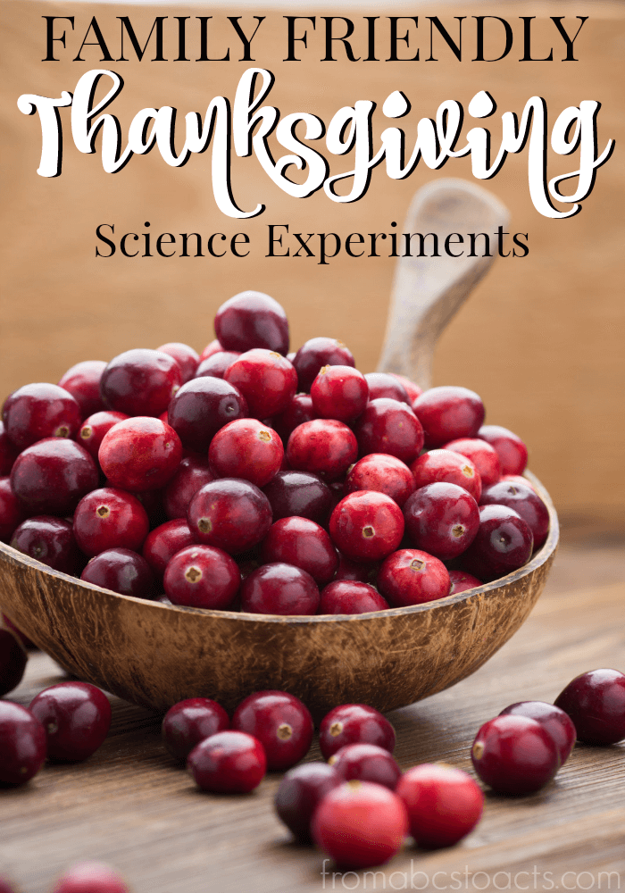 Thanksgiving is a time for family, friends, and delicious food, but that doesn't mean that learning has to stop over the holiday!  These Thanksgiving science experiments are fun for the whole family!