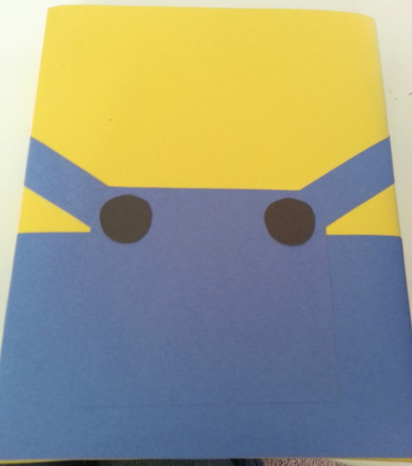 Minion Valentine box tutorial step 3