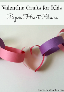 DIY Valentine crafts for kids paper heart chain