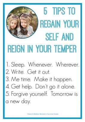 Super Mom? Where are you? 5 Tips to Regain Your Self and Reign in Your Temper