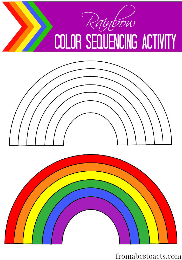 Rainbow Color Sequencing Activity for Preschoolers