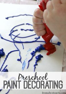 Paint Decorating for Preschoolers