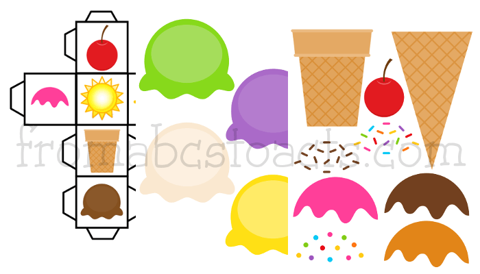 Printable Summer Build an Ice Cream Cone Game