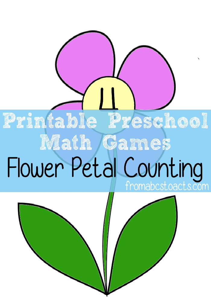 Preschool Math Games - Flower Petal Counting - From ABCs to ACTs