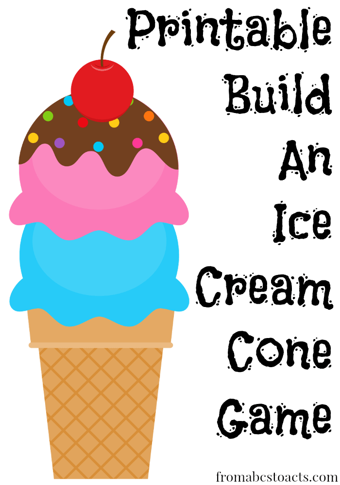 printable build an ice cream cone game from abcs to acts. Black Bedroom Furniture Sets. Home Design Ideas