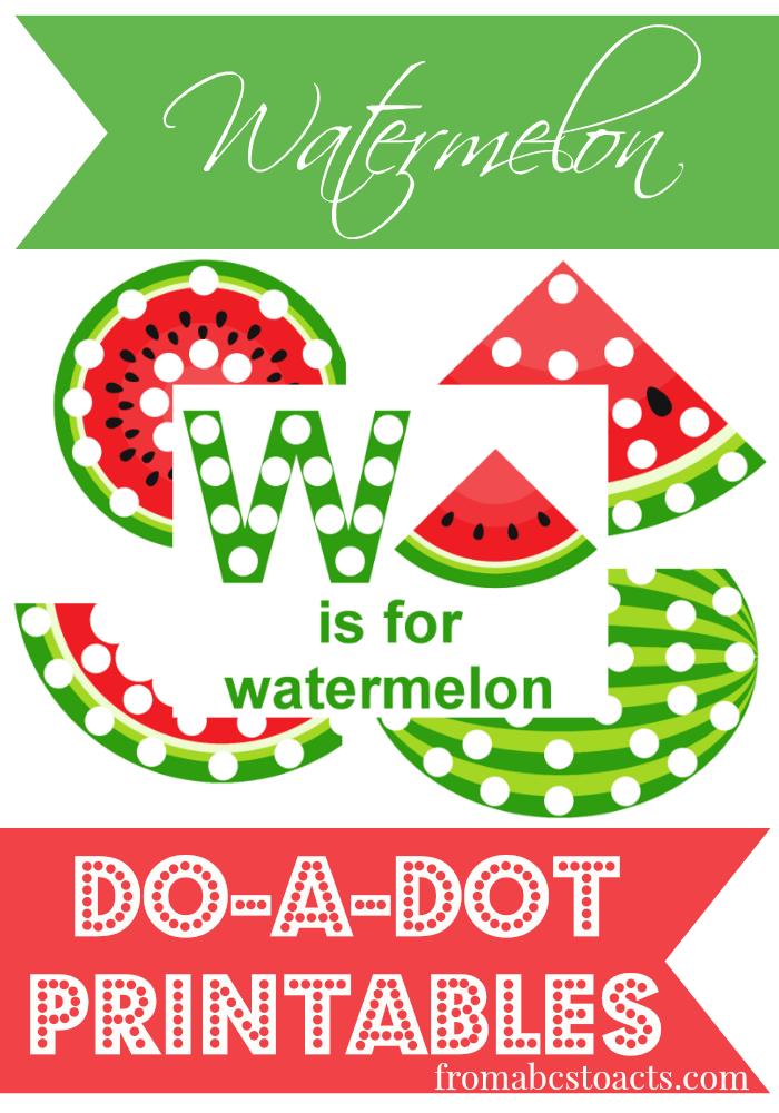 Watermelon Do-A-Dot Printables