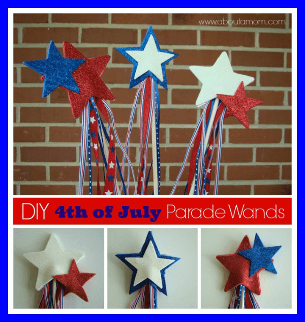 4th of July Parade Wand Craft - 4th of July Crafts for Kids