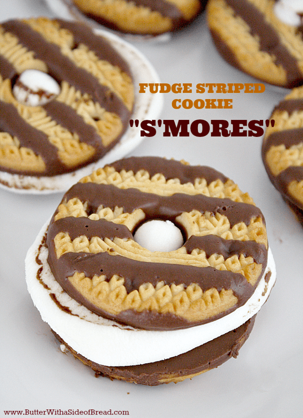 Fudge Striped Cookie S'mores - Camping Recipes with Kids