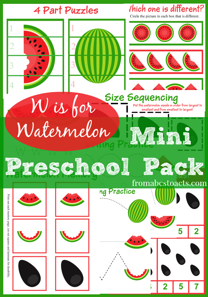 Watermelon Mini Preschool Pack