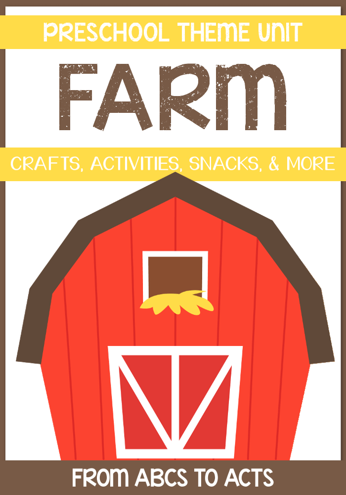 Farm Preschool Theme Unit - Crafts, activities, printables, and more!