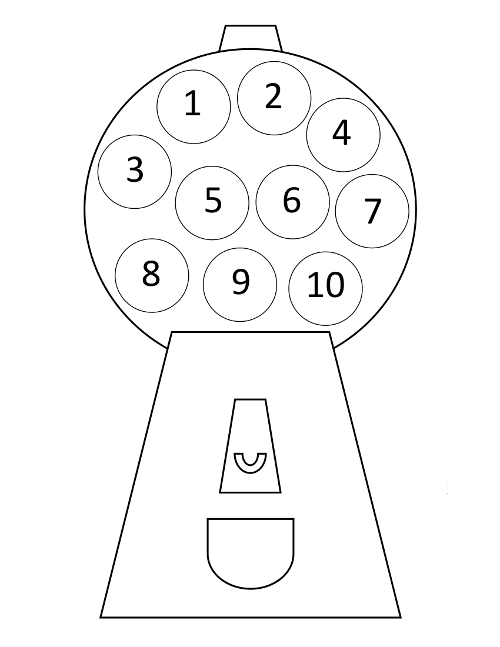 picture about Gumball Machine Printable titled Counting Match for Preschoolers - Against ABCs in direction of Functions