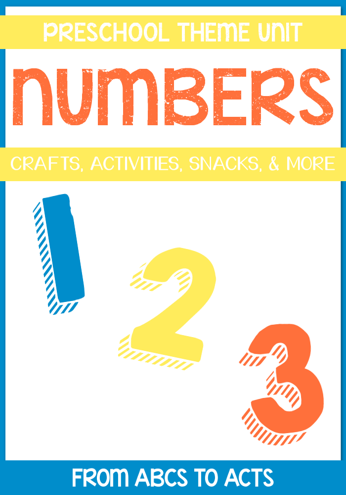 Numbers (1-10) Preschool Theme Unit - Includes crafts, activities, printables, and more!