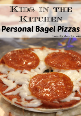Personal Bagel Pizzas with Homemade Pizza Sauce that the kids can make