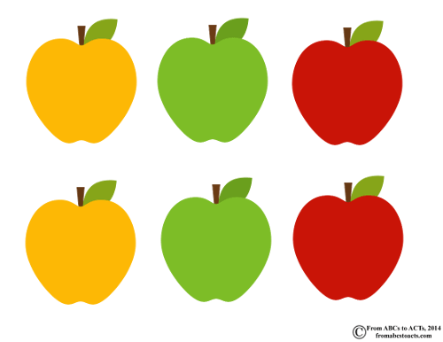 Apples Letter Sorting Printable for Preschoolers
