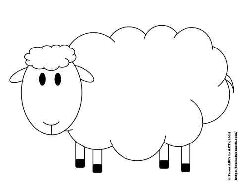 Try counting sheep printable counting activity for for Lamb template to print
