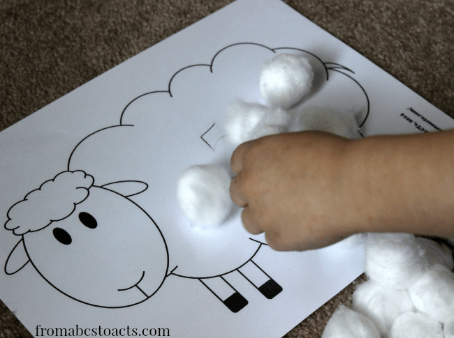 Printable Preschool Counting Activity