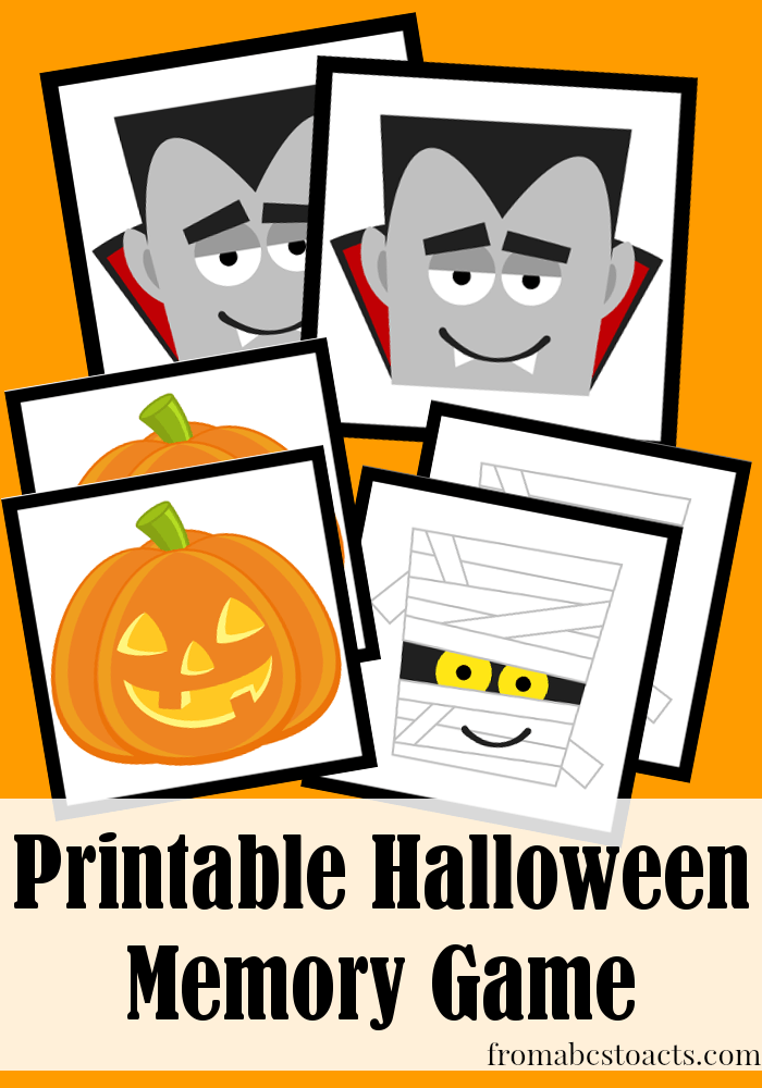 image regarding Halloween Printable Games called Printable Halloween Memory Sport In opposition to ABCs in direction of Functions