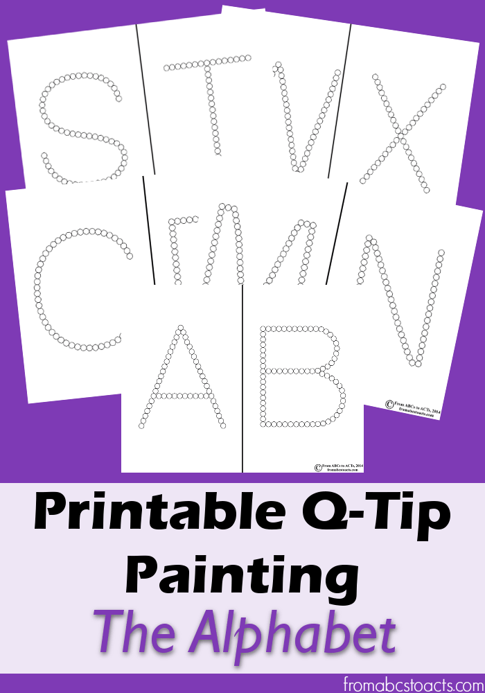 photograph regarding Q Tip Painting Printable called Printable Q-Idea Portray: The Alphabet Towards ABCs toward Functions