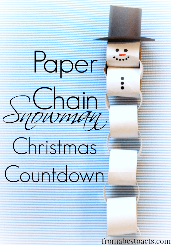 Paper Chain Christmas Countdown