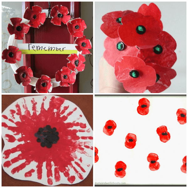 Veteran's Day Poppy Crafts for Kids on From ABCs to ACTs