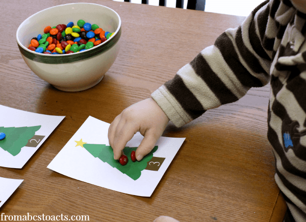 Christmas Counting - Preschool Math Activities