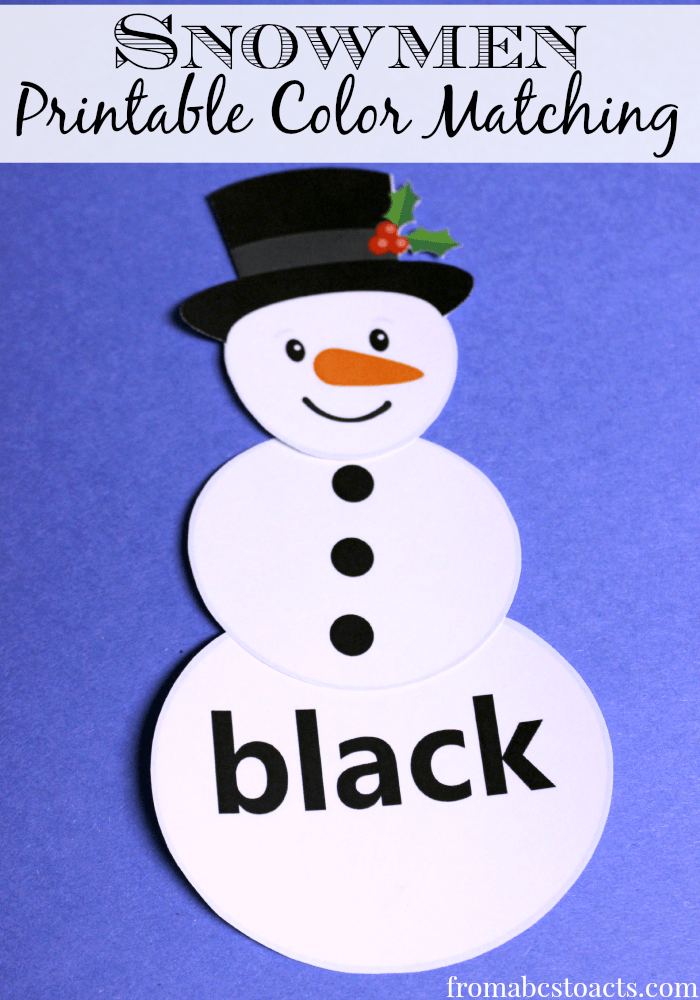 snowman activities for preschool printable color matching snowmen from abcs to acts 242