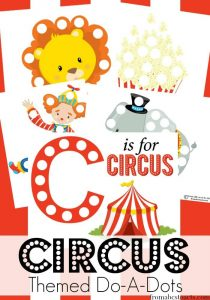 Circus Do-A-Dot printables for preschool fine motor skills