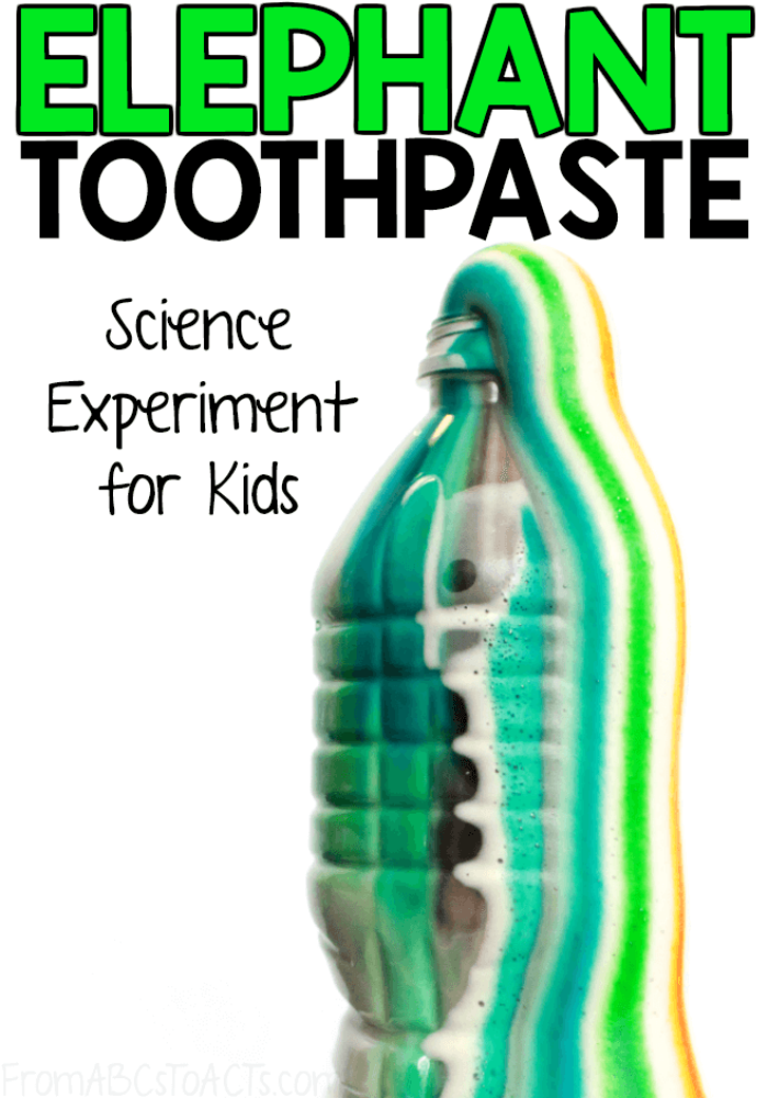 Elephant toothpaste is such a fun science experiment to try with your kids! This foamy reaction comes together in minutes with just 4 ingredients!