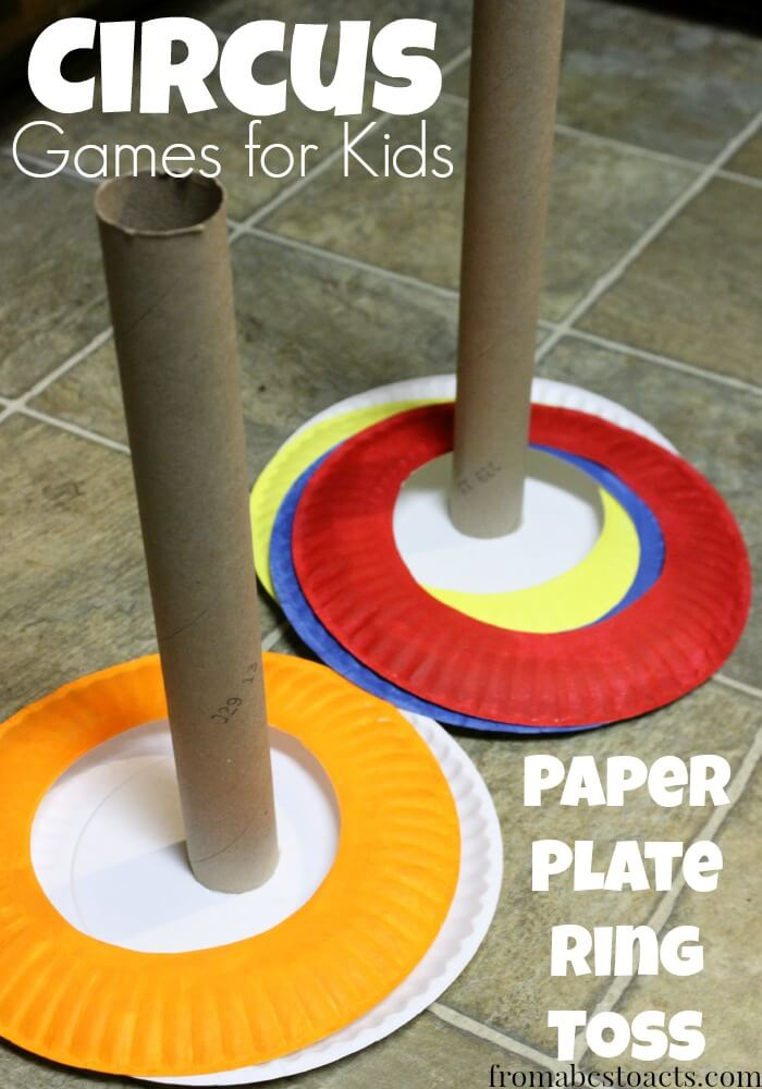 Preschool Circus Games - Paper Plate Ring Toss  sc 1 st  From ABCs to ACTs : paper plate activity preschool - pezcame.com