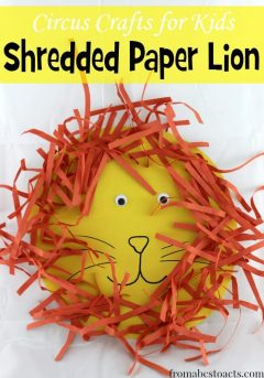 circus crafts - shredded paper lion