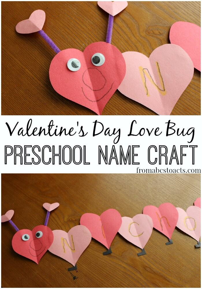 love bug name craft for preschoolers from abcs to acts