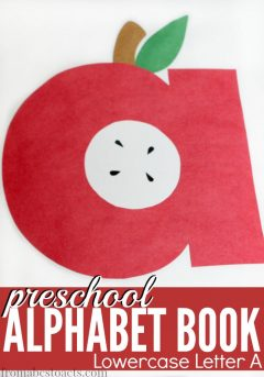 preschool alphabet book craft and printable lowercase letter a