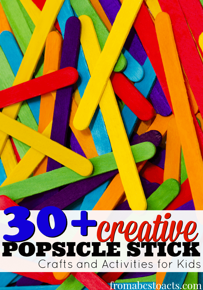 popsicle stick crafts and activities for kids
