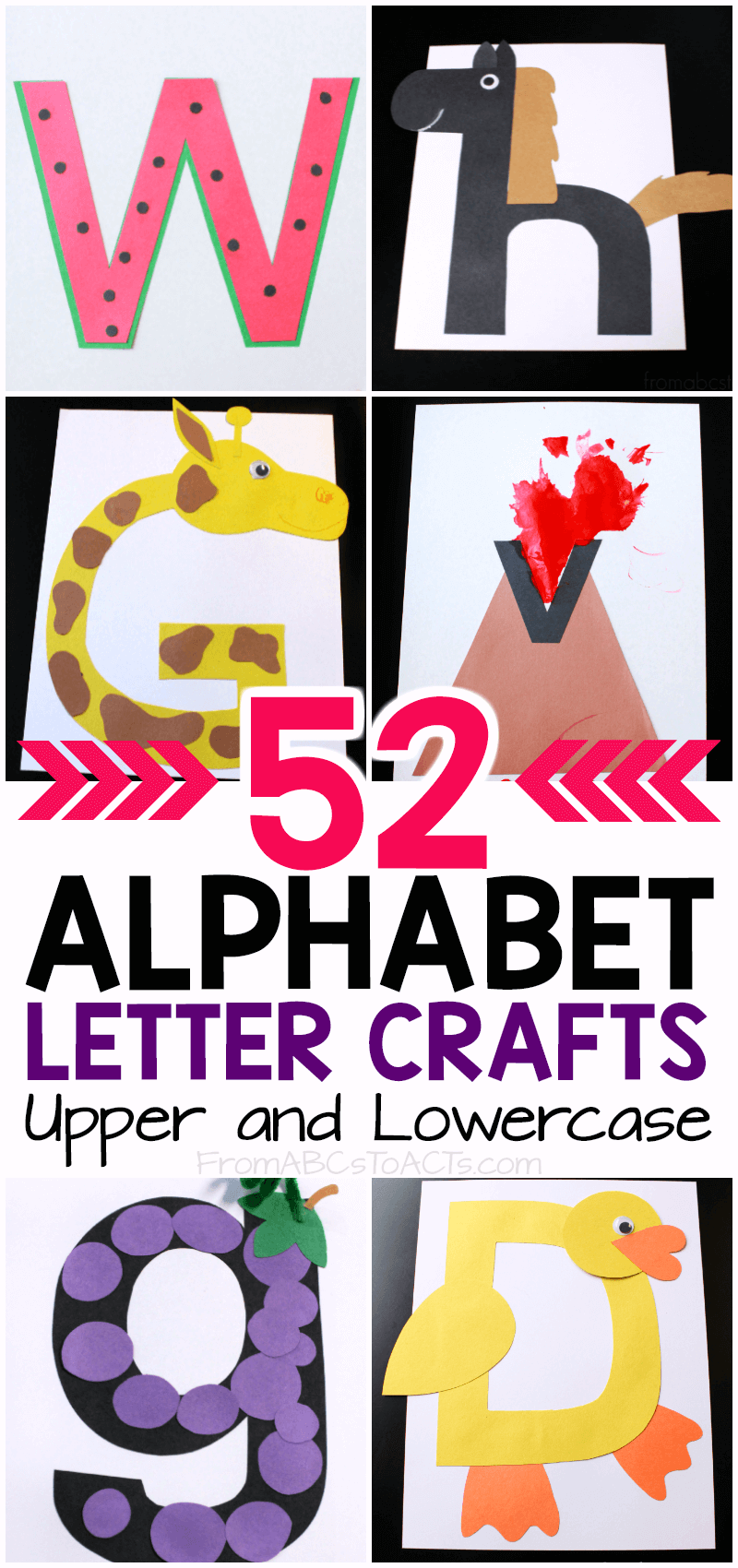 Oh my gosh!  My preschooler is going to absolutely LOVE making this alphabet book!  I love that it includes handwriting practice and he is going to have a blast making all of the letter crafts!