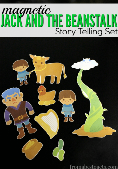 Work on reading comprehension skills with this printable, magnetic Jack and the Beanstalk storytelling set!