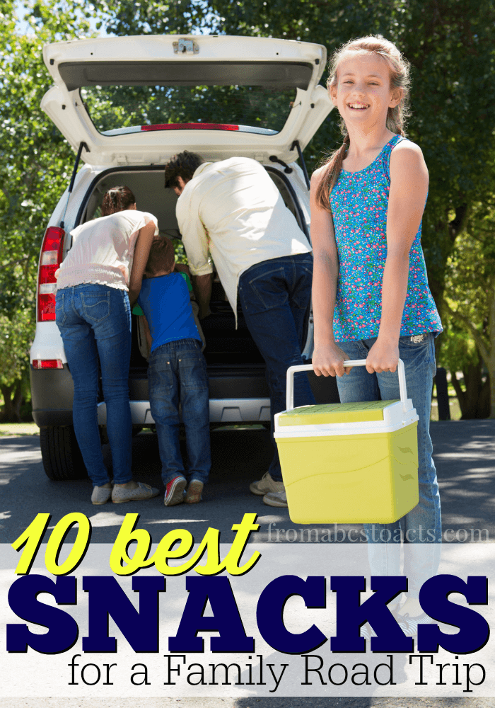 If you've ever taken a road trip with kids, you know that having readily available snacks can mean the difference between a smooth trip and a complete disaster!  Avoid the meltdowns with these 10 great road trip snacks!