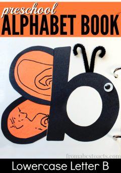 Learning the alphabet can be a lot of fun when you add in a few adorable letter crafts! This letter b butterfly is a great place to start!