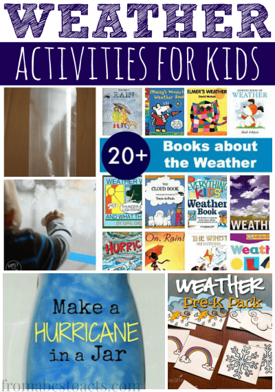 Super simple weather activities for preschoolers.