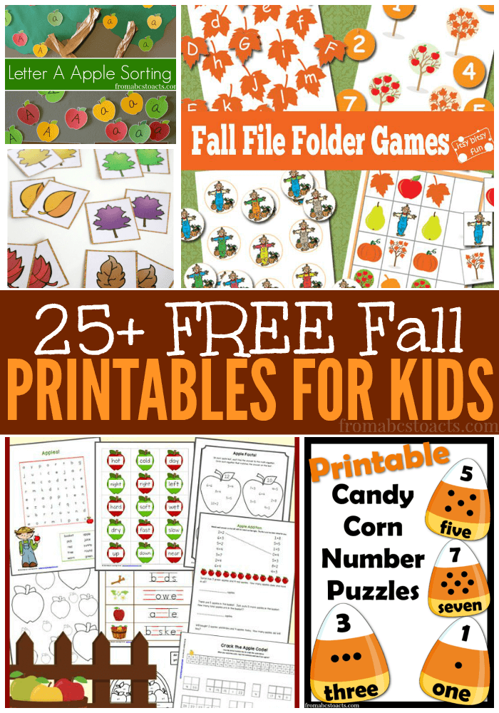 With fall just around the corner, we've put together a list of some of favorite fall printables for preschoolers!