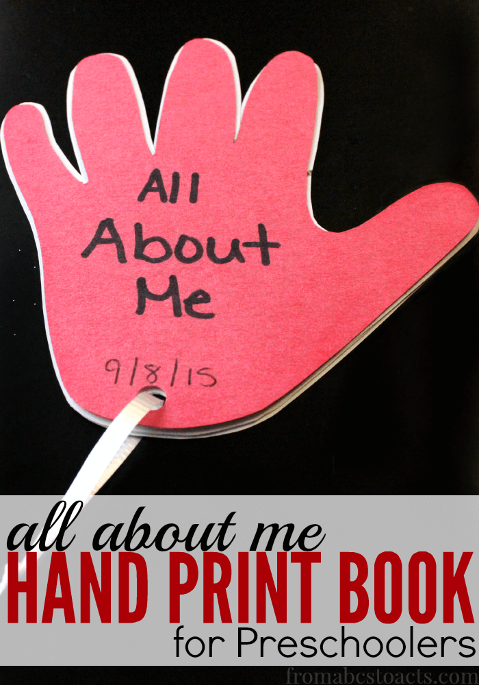 Effortless image in all about me printable book