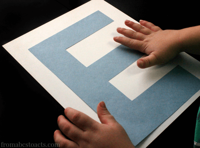 letter e craft for preschoolers