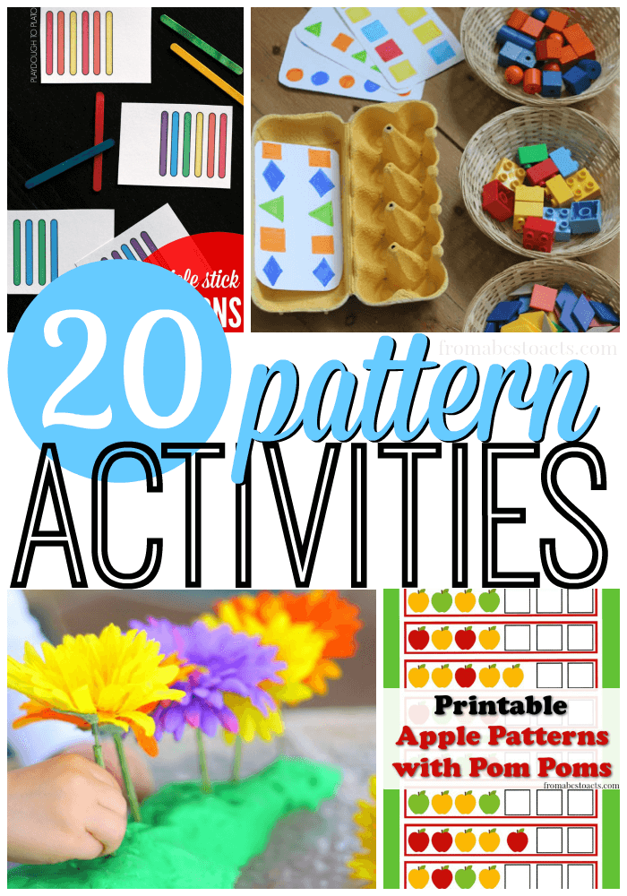 20 Awesome Pattern Activities for Preschoolers | From ABCs ...