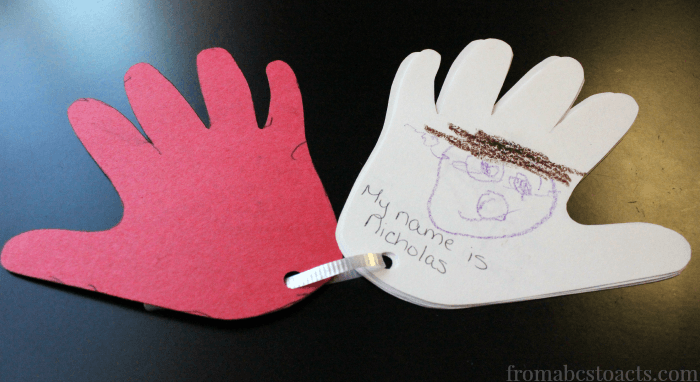 Preschool Hand Print All About Me Book