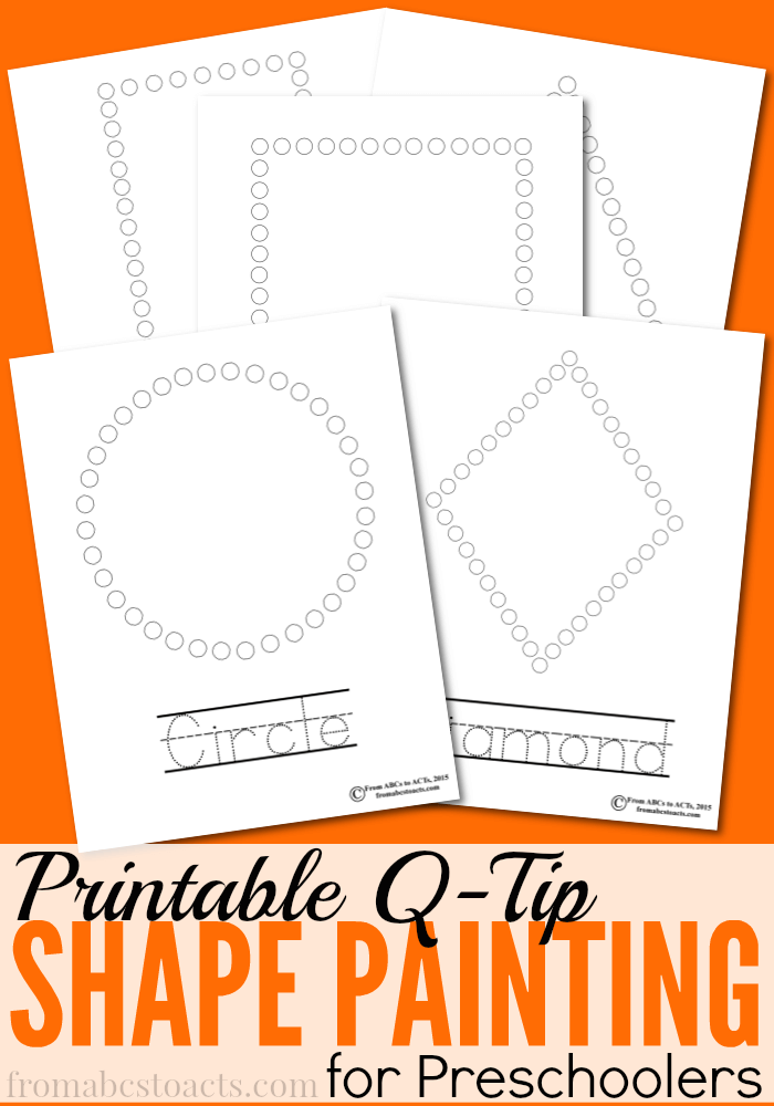 photograph about Q Tip Painting Printable named Printable Q-Suggestion Portray: Designs Versus ABCs towards Functions