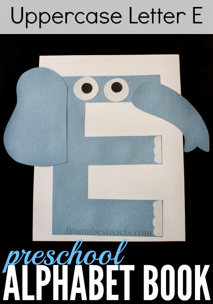 This uppercase letter E elephant craft is not only adorable and super easy to make, but is the perfect way to start practicing scissor skills with your child as it is a lot of straight lines!