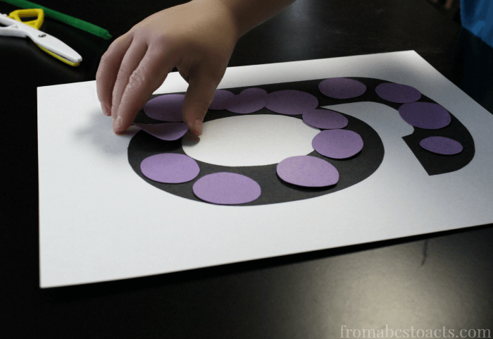 Letter G Grapes - Alphabet Book Craft for Kids