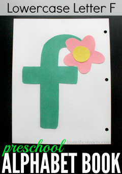 Work on scissor skills with your preschooler while making this super simple letter F flower craft for a fun alphabet book!
